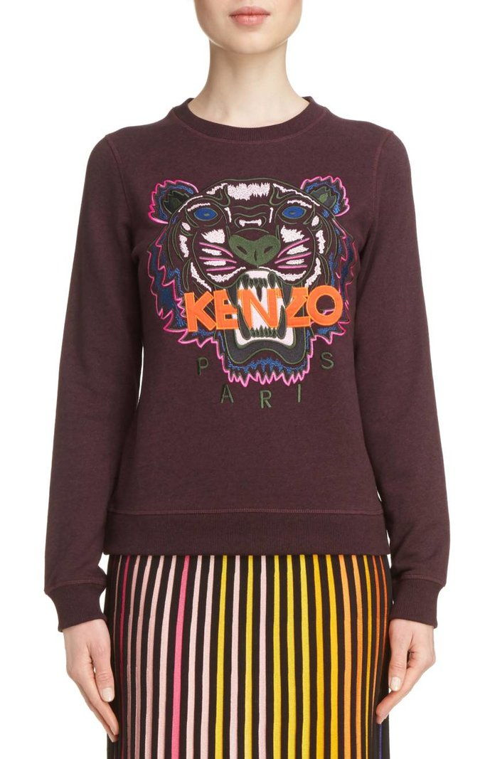 كينزو Embroidered Tiger Sweatshirt