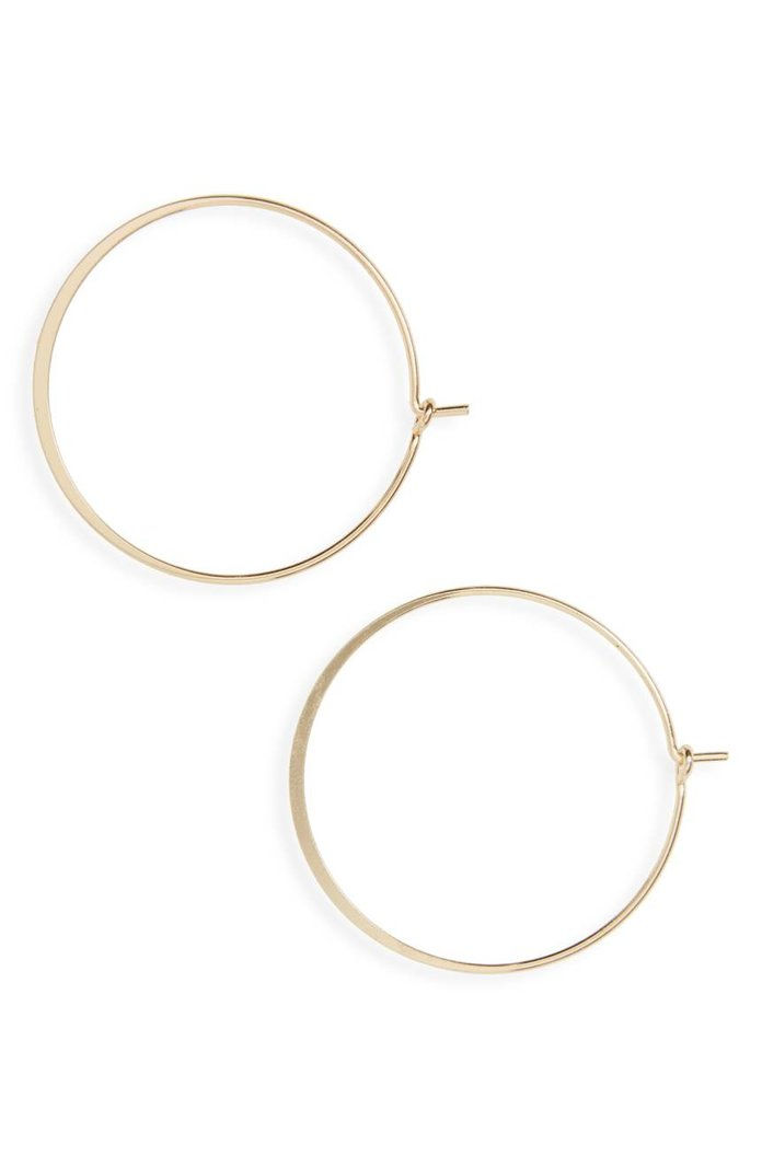 BP Flat Hoop Earrings