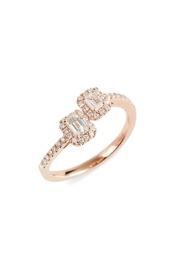 عظمي Levy Stackable Diamond Ring