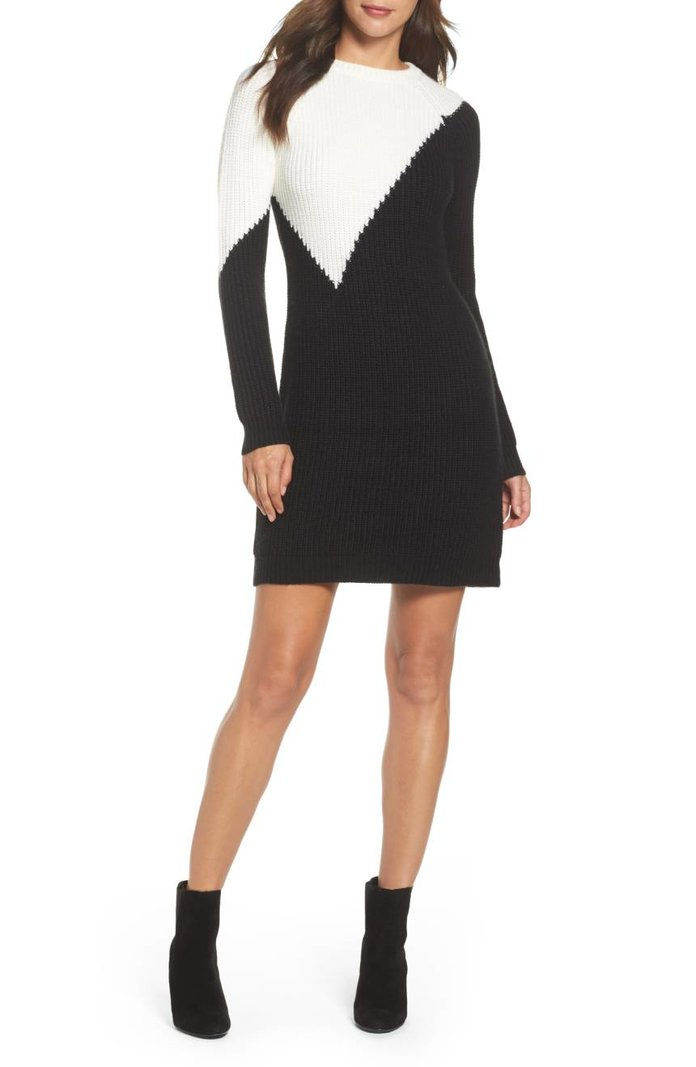 فينس Camuto Colorblock Sweater Dress