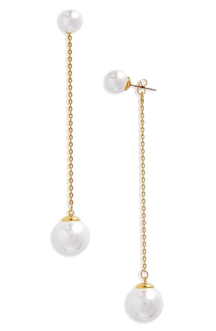 РЕБЕЦЦА MINKOFF Double Sphere Front/Back Earrings