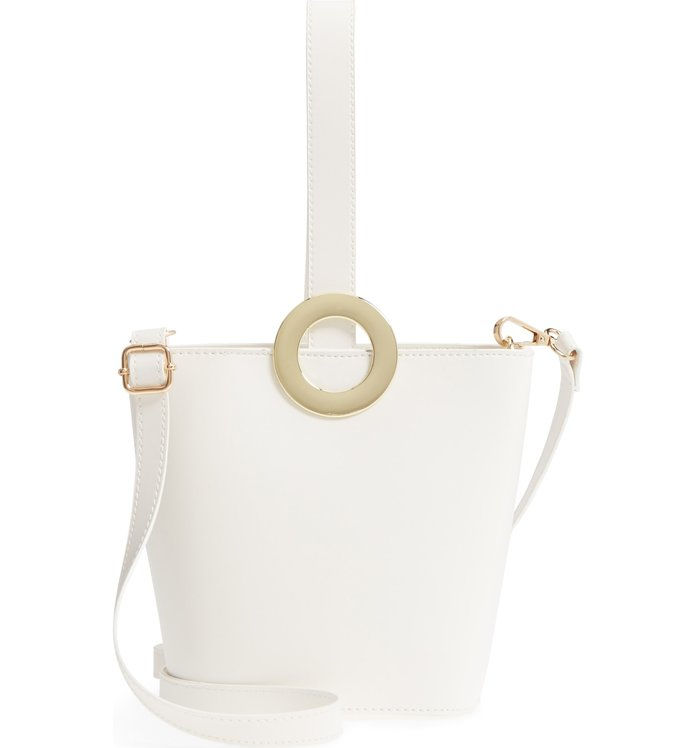 Иорки Structured Faux Leather Bucket Bag