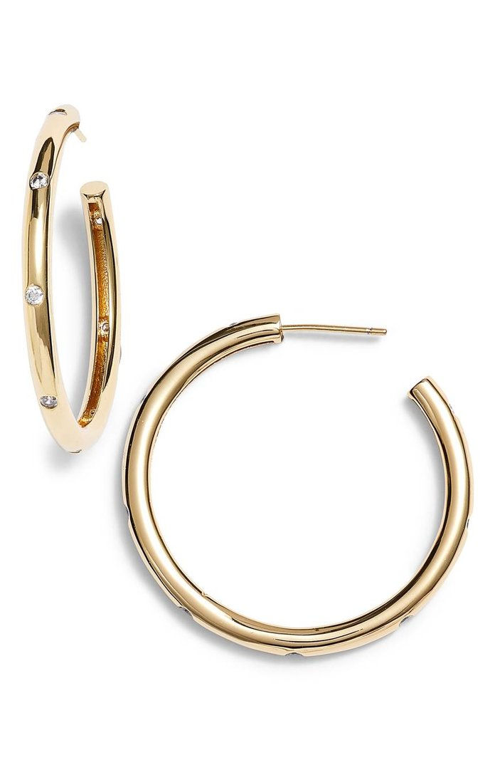 Студдед Hoop Earrings