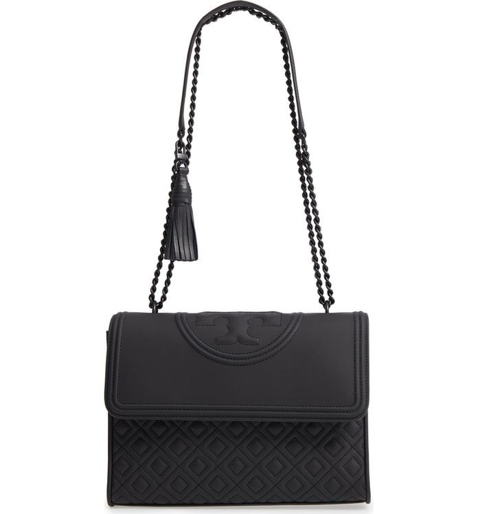 Тори Burch Fleming Matte Quilted Faux Leather Convertible Shoulder Bag