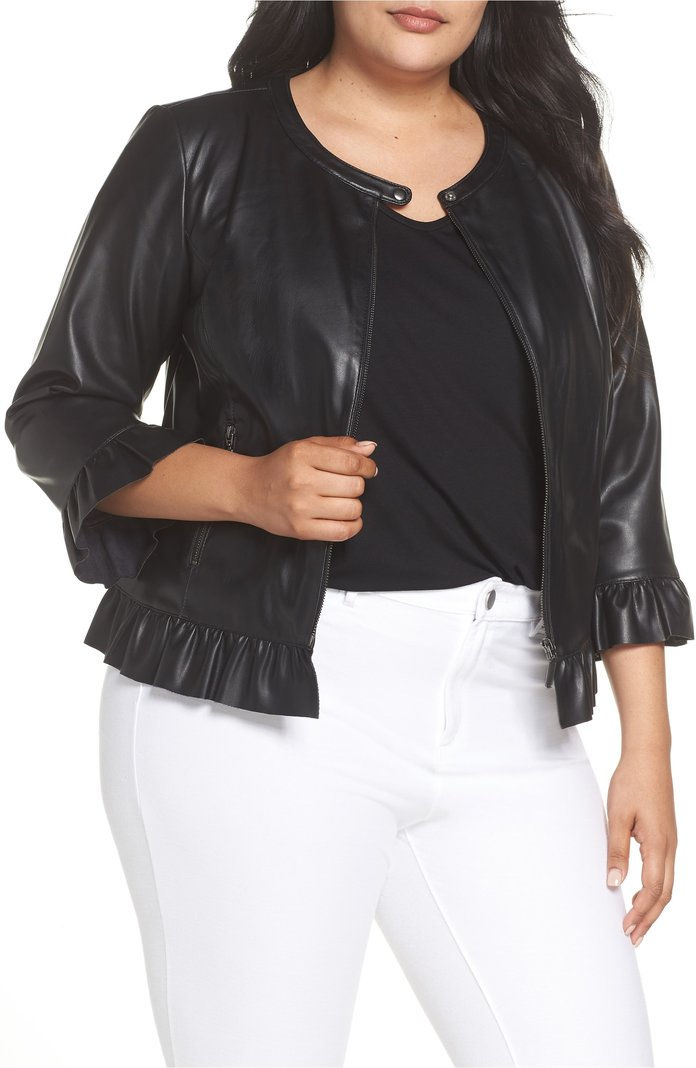 تكدرت Faux Leather Jacket