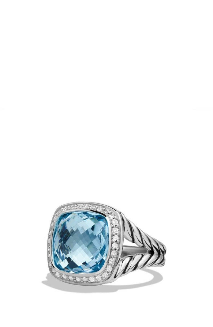 ديفيد Yurman 'Albion' Ring with Semiprecious Stone and Diamonds