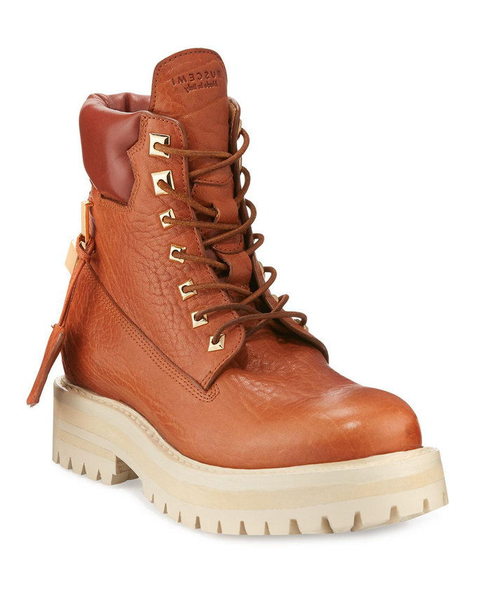 Бусцеми Lace-Up Leather Site Boot
