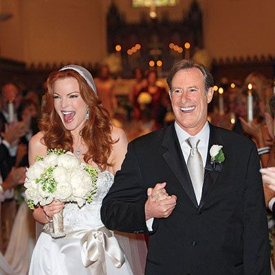 حفل زواج Day Details: Marcia Cross and Tom Mahoney