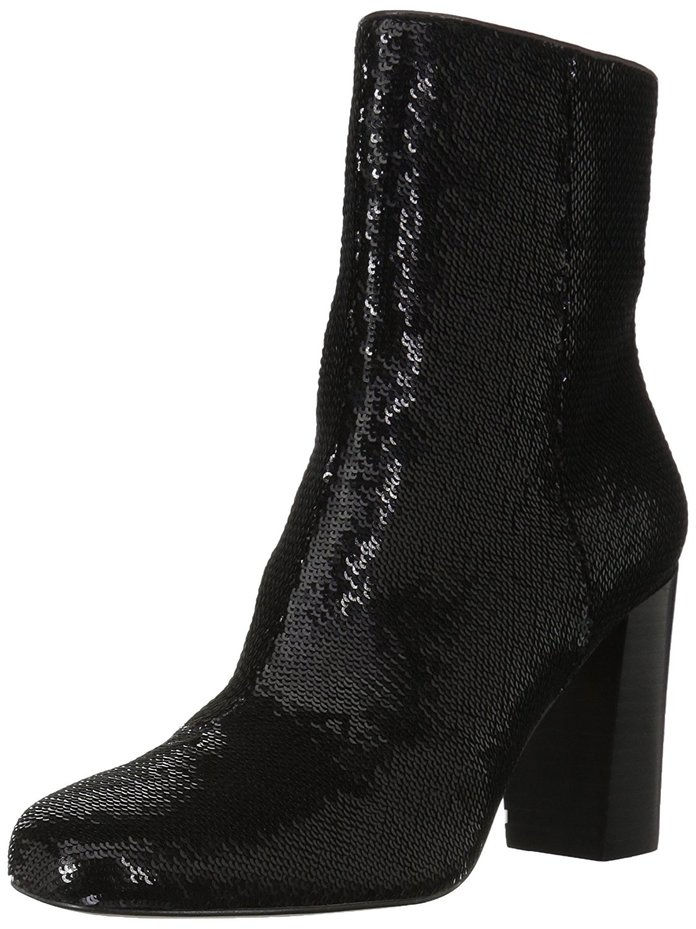 Тхе Fix Sutton Round-Toe Sequin Ankle Boot