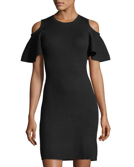 غسيل ملابس by Shelli Segal Cold-Shoulder Sweater Dress