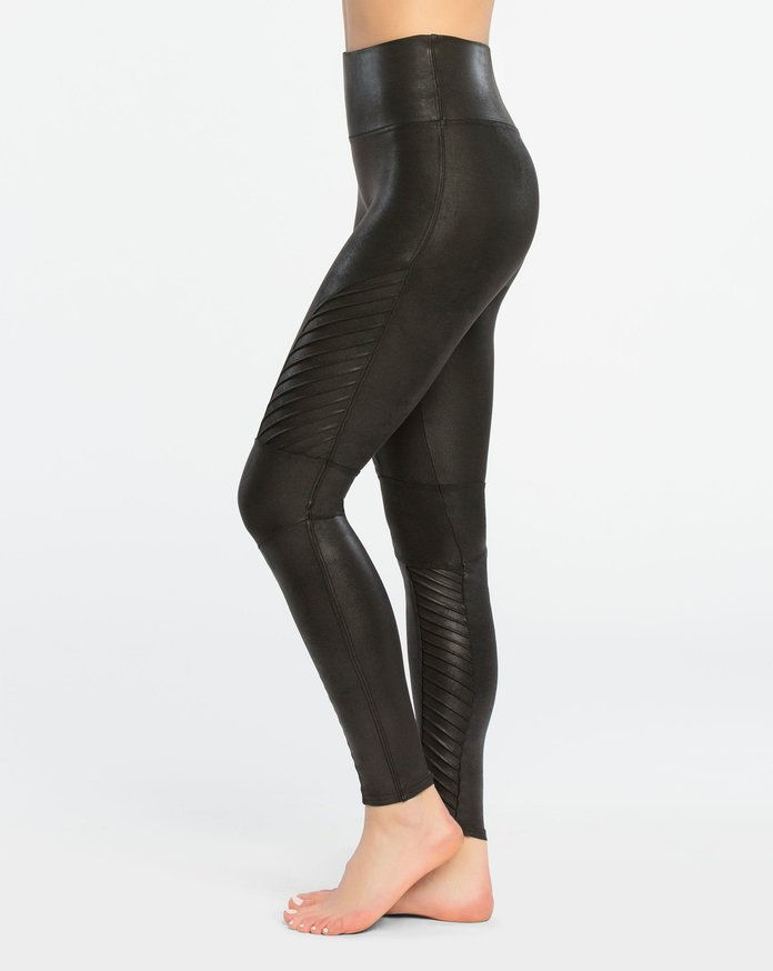 سبانكس Faux Leather Moto Leggings
