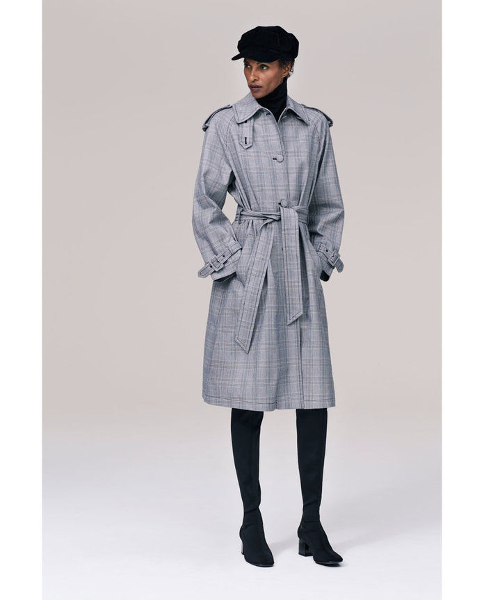 زارا CHECKED TRENCH COAT