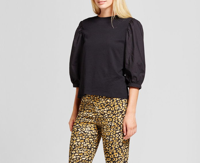 Ко What Wear Billow Long Sleeve Woven Top