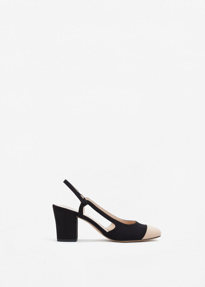 مانجو Slingback two-couloured shoes