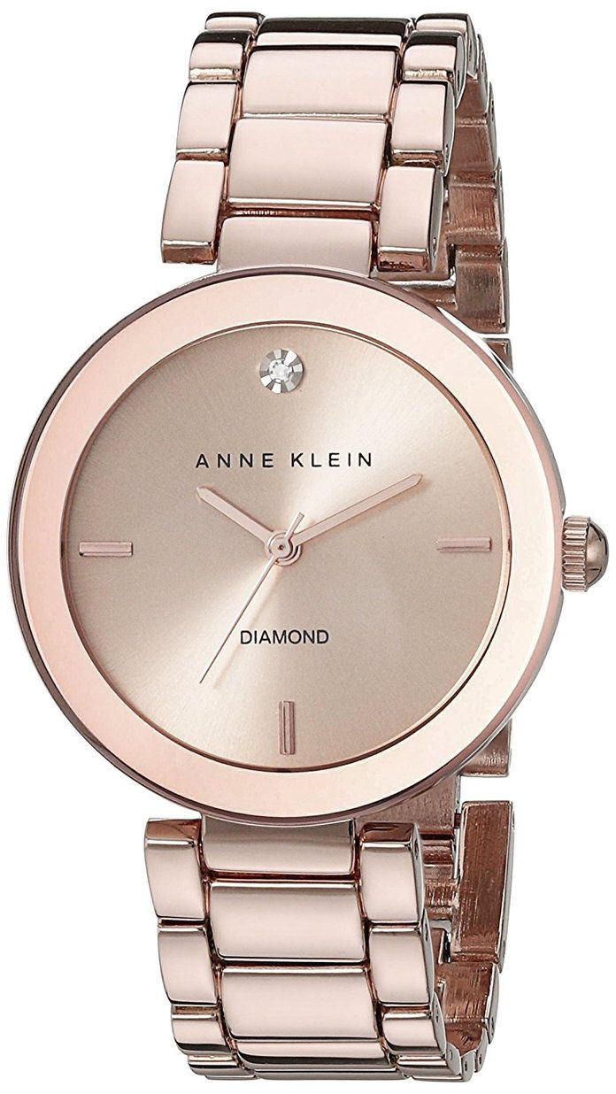 آن Klein Women's Rose Goldtone Bracelet Watch