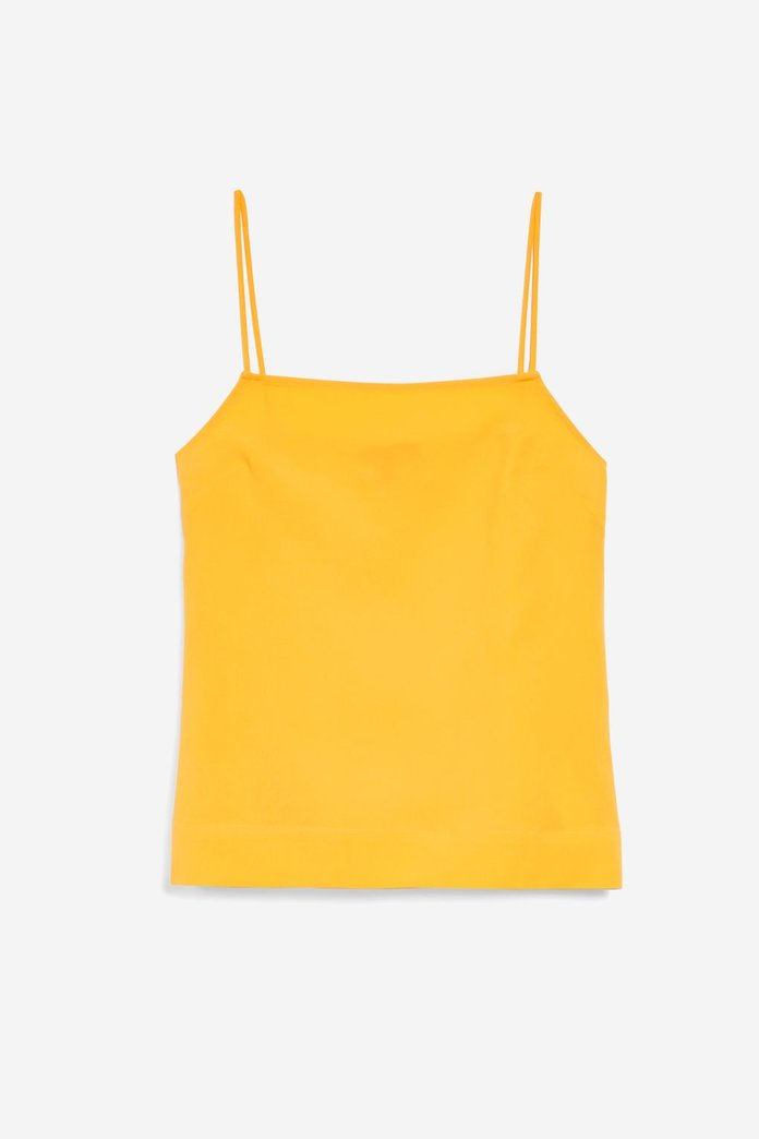 الأصفر Square Neck Cami