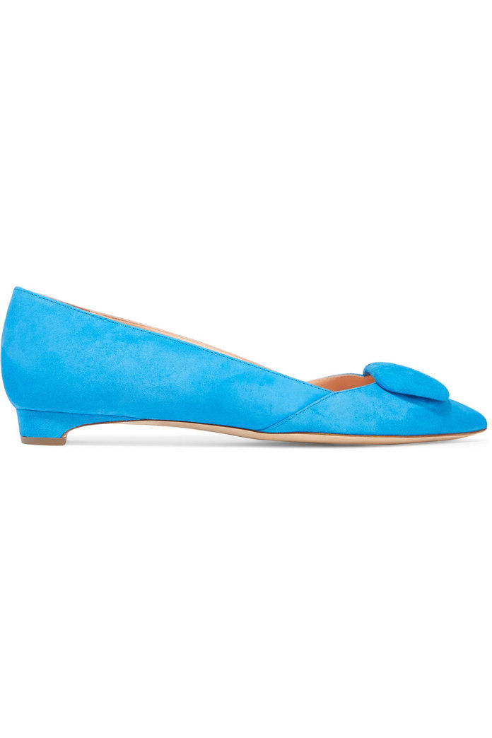 Ага suede point-toe flats