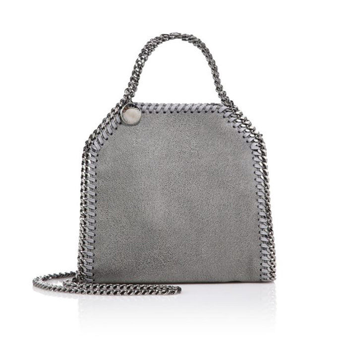 Фалабелла Tiny Metallic Faux Suede Tote