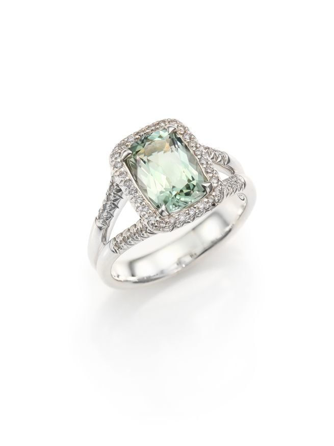 يوحنا Hardy Classic Chain Diamond, Prasiolite & Sterling Silver Ring