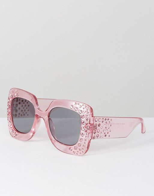 АСОС Oversized Square Embellished Sunglasses
