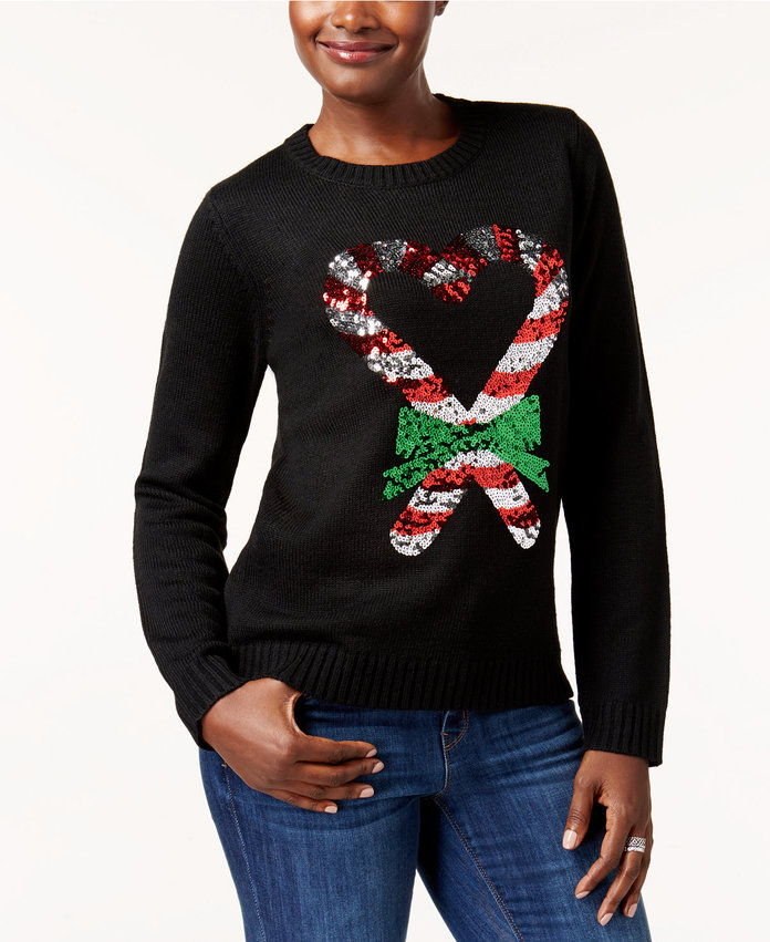 كارين Scott Candy Cane Holiday Sweater