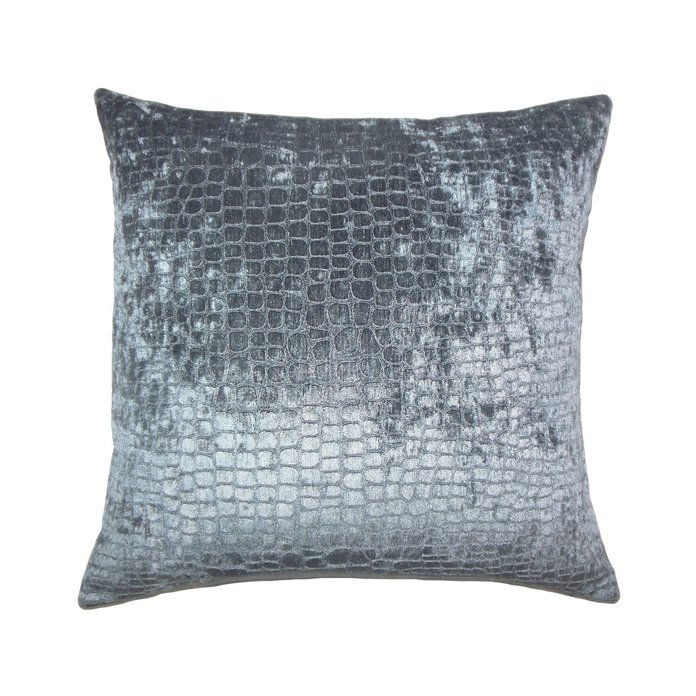 Тхе Pillow Collection Gray Stripe Square Throw Pillow