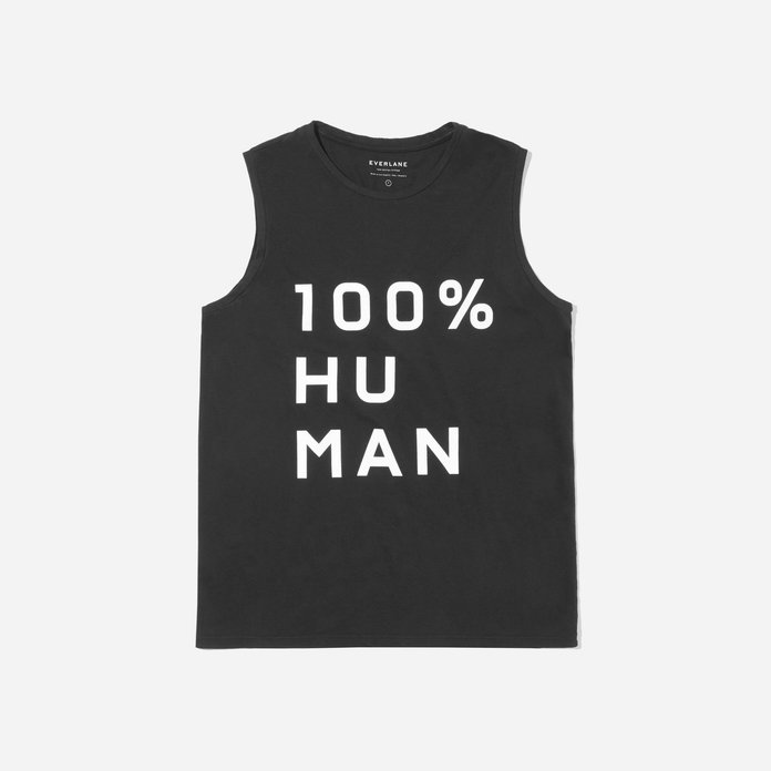 Тхе 100% Human Muscle Tank in Large Print