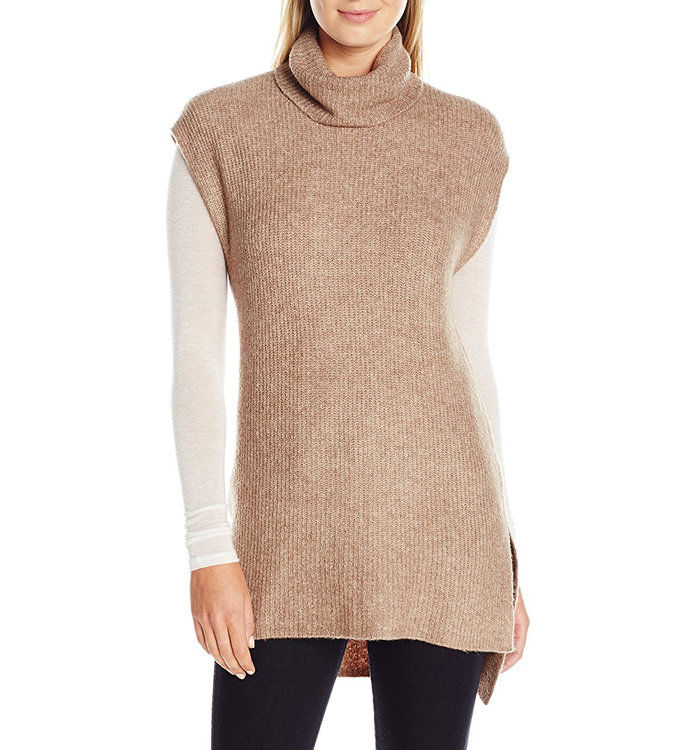 Ларк & Ro Soft Cowl-Neck Tunic with Side Slits