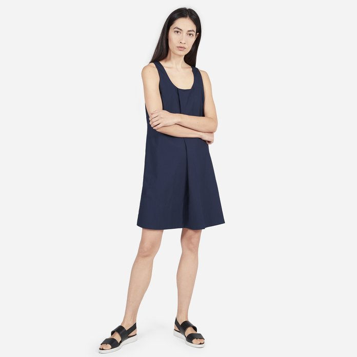 Тхе Cotton Poplin Pleated Dress