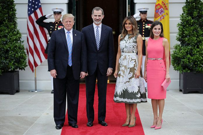 председник Trump Hosts Spain's King Felipe And Queen Letizia At The White House