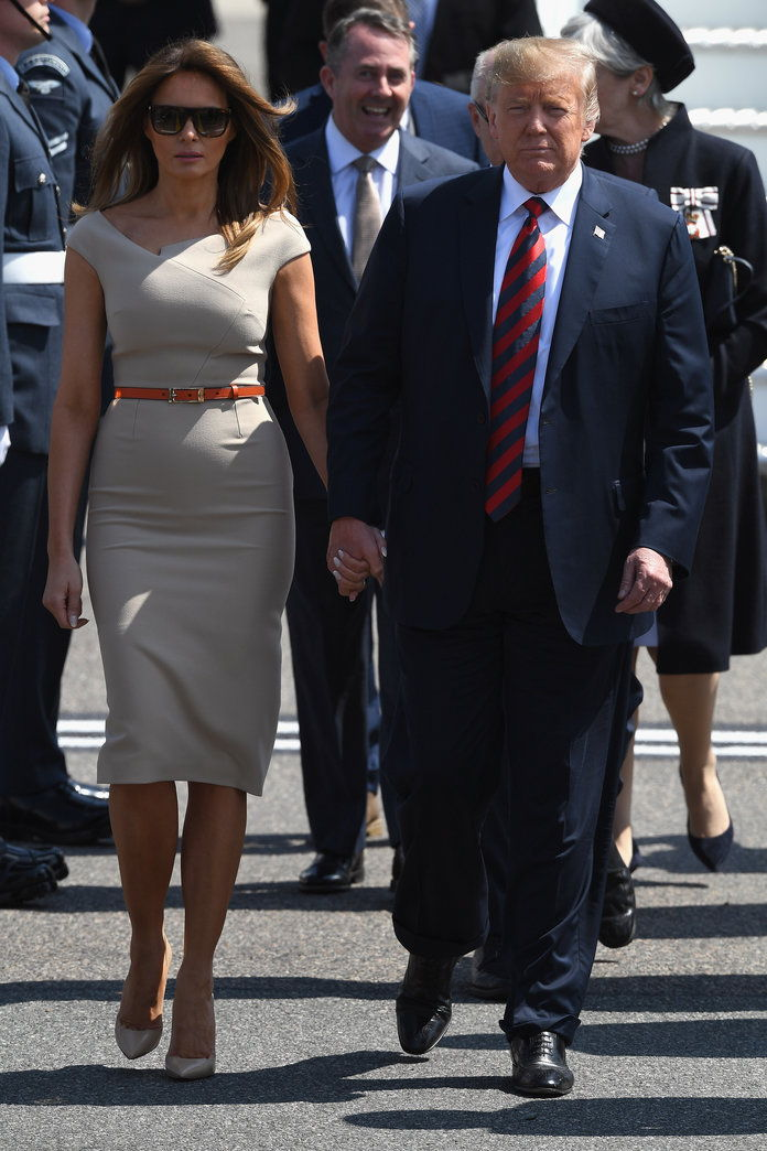 председник Donald Trump And The First Lady Arrive In The UK