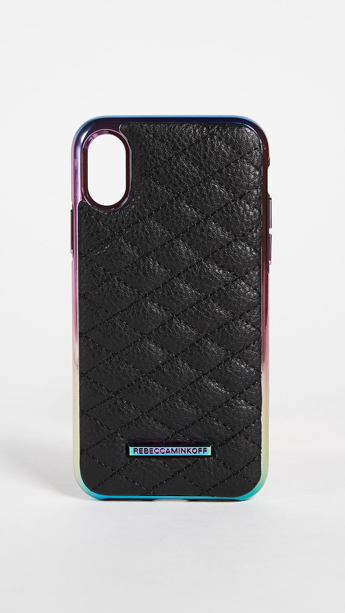 Ребецца Minkoff Quilted Love Oil Slick iPhone X Case