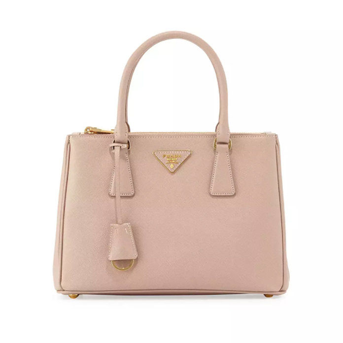 Саффиано Lux Small Double-Zip Tote Bag